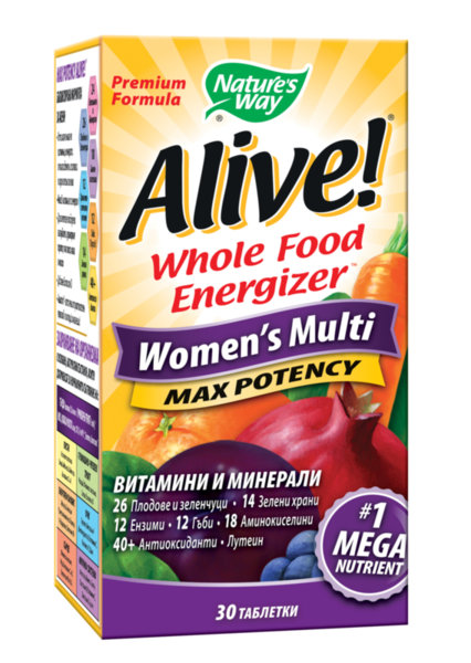 Мултивитамини за Жени ALIVE! таблетки x30